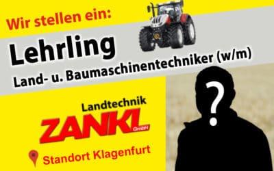 Offene Stelle: Lehrling Landaschinentechniker